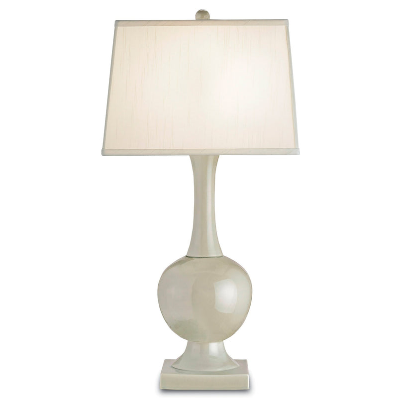 Currey and Company 6495 Downton Table Lamp in Pale Celadon Crackle