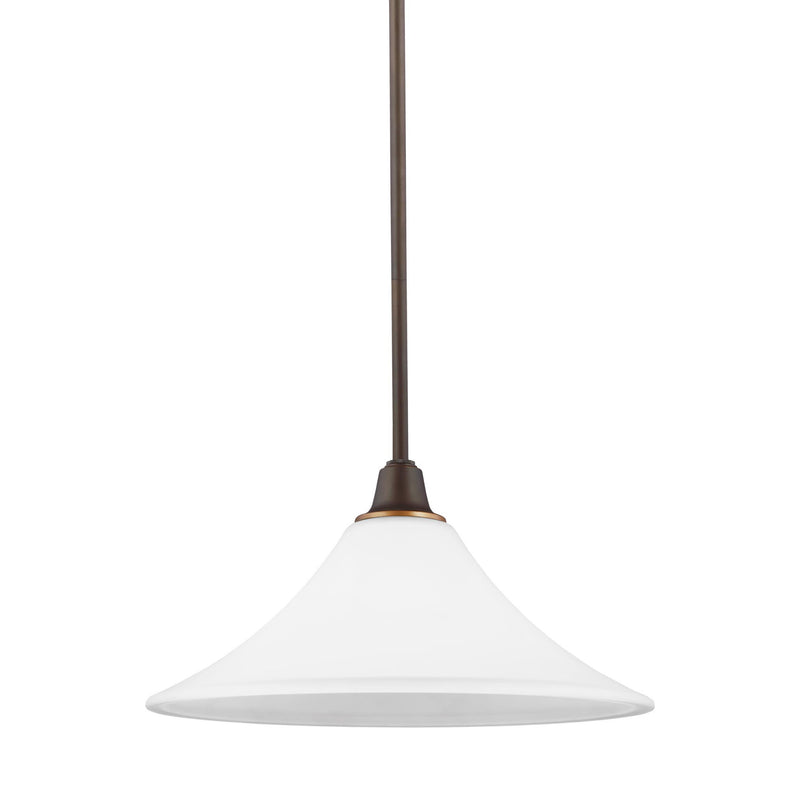 Generation Lighting 6513201-715 Sea Gull Metcalf 1 Light Pendant in Autumn Bronze