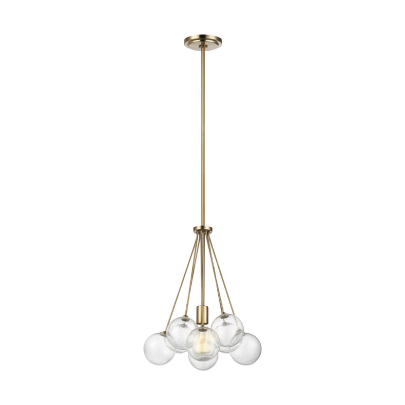 Generation Lighting 6514301-848 Sea Gull Bronzeville 1 Light Pendant in Satin Bronze