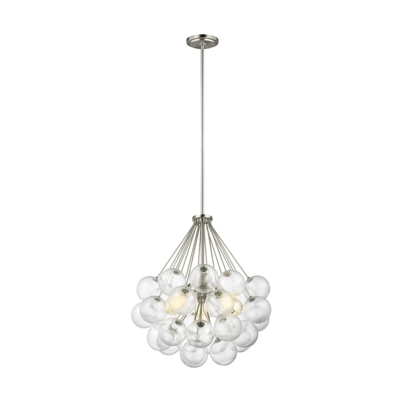 Generation Lighting 6514303-962 Sea Gull Bronzeville 3 Light Pendant in Brushed Nickel