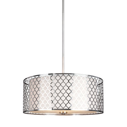 Generation Lighting 6515503-962 Sea Gull Jourdanton 3 Light Pendant in Brushed Nickel