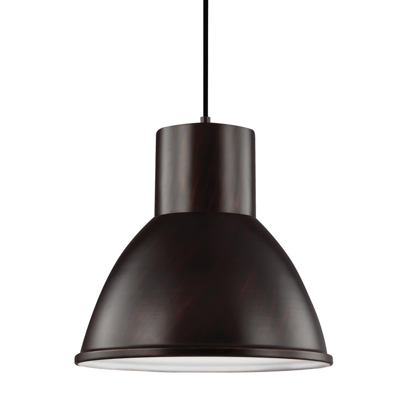 Generation Lighting 6517401-710 Sea Gull Division Street 1 Light Pendant in Burnt Sienna