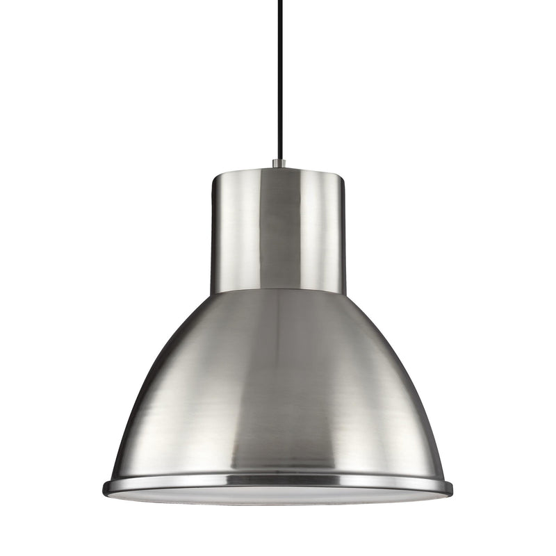 Generation Lighting 6517401-962 Sea Gull Division Street 1 Light Pendant in Brushed Nickel