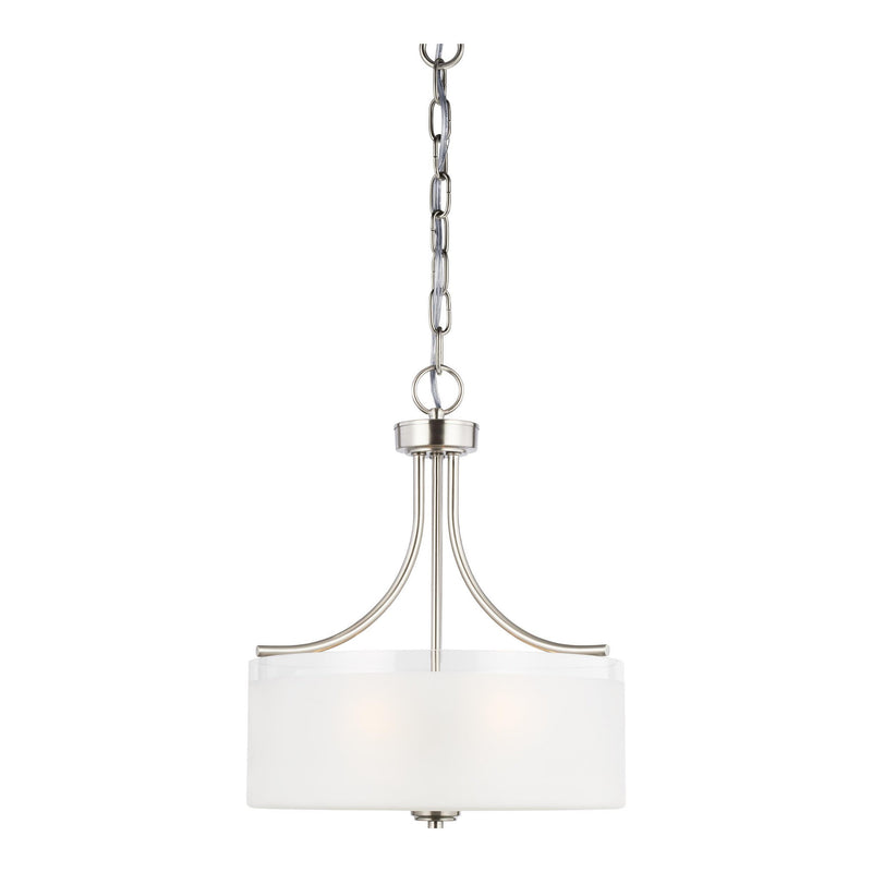 Generation Lighting 6539803-962 Sea Gull Norwood 3 Light Pendant in Brushed Nickel