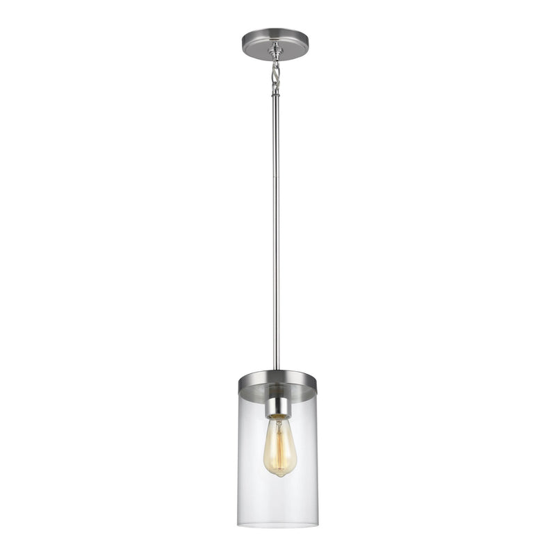 Generation Lighting 6590301-05 Sea Gull Zire 1 Light Pendant in Chrome