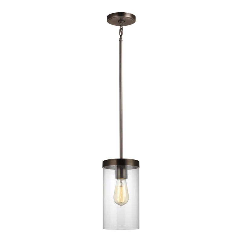 Generation Lighting 6590301-778 Sea Gull Zire 1 Light Pendant in Brushed Oil Rubbed Bronze