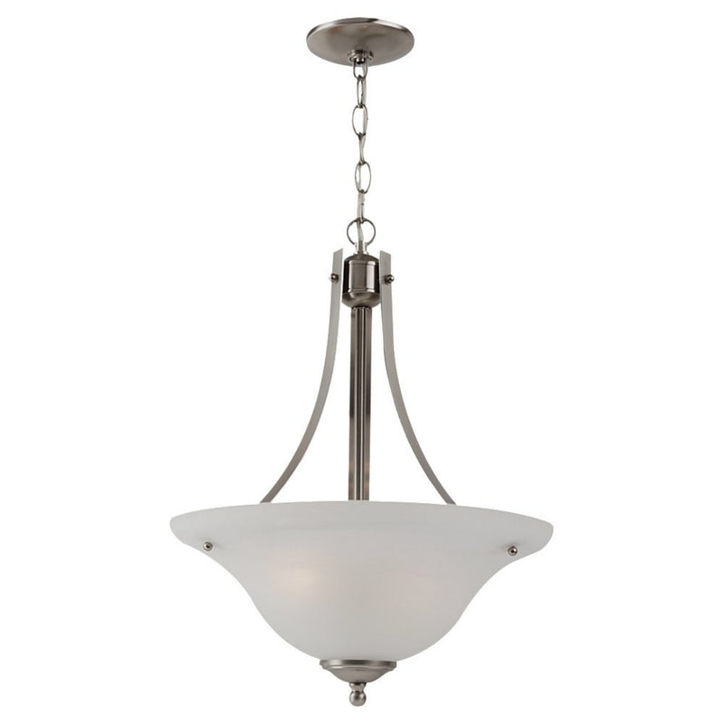 Generation Lighting 65941-962 Sea Gull Windgate 2 Light Pendant in Brushed Nickel