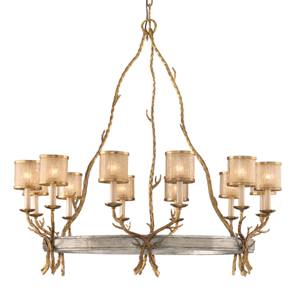 Corbett Lighting 66-012 Parc Royale 12lt Chandelier in Hand-Worked Iron