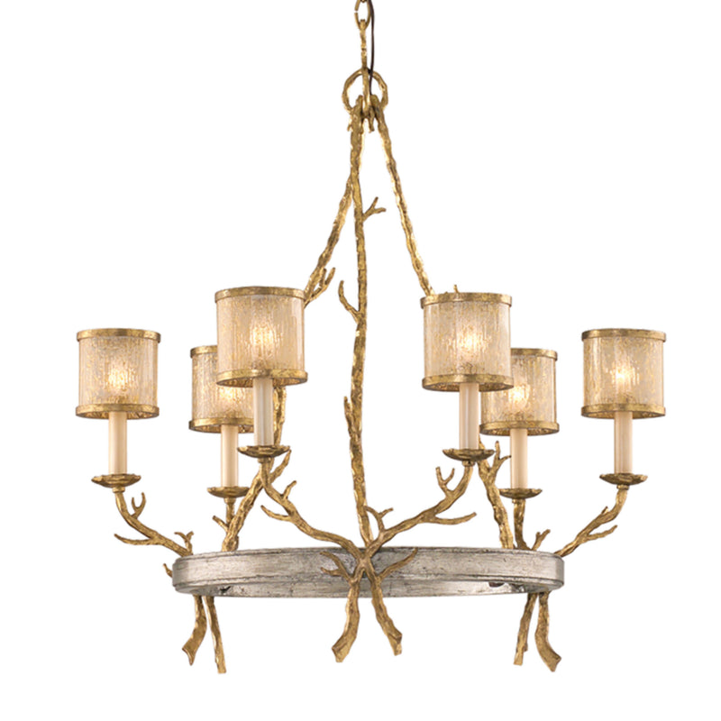 Corbett Lighting 66-06 Parc Royale 6lt Chandelier in Hand-Worked Iron
