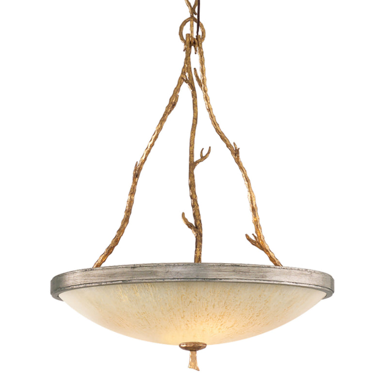 Corbett Lighting 66-43 Parc Royale 3lt Pendant in Hand-Worked Iron