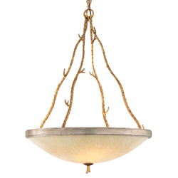 Corbett Lighting 66-44 Parc Royale 4lt Pendant in Hand-Worked Iron