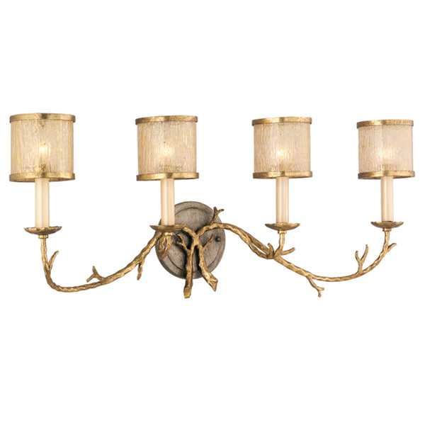 Corbett Lighting 66-64 Parc Royale 4lt Bath in Hand-Worked Iron