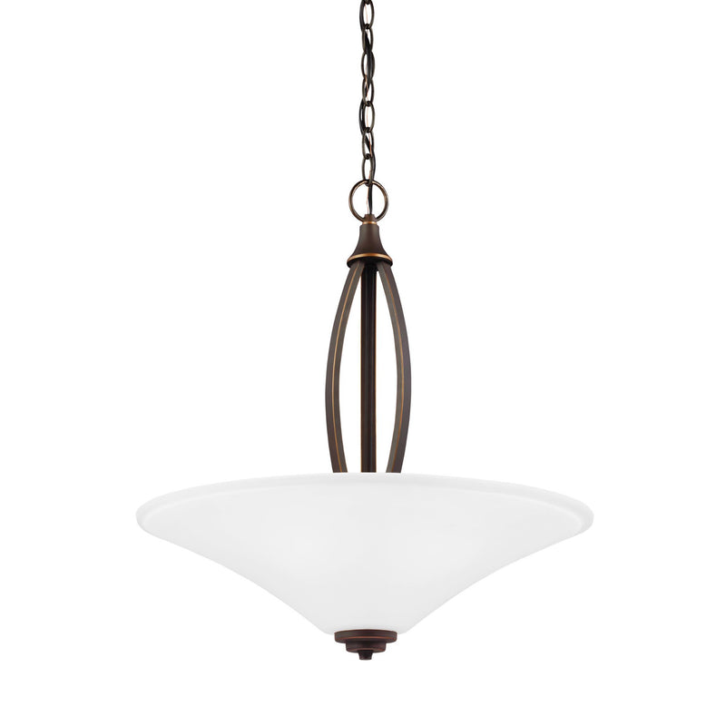 Generation Lighting 6613203-715 Sea Gull Metcalf 3 Light Pendant in Autumn Bronze