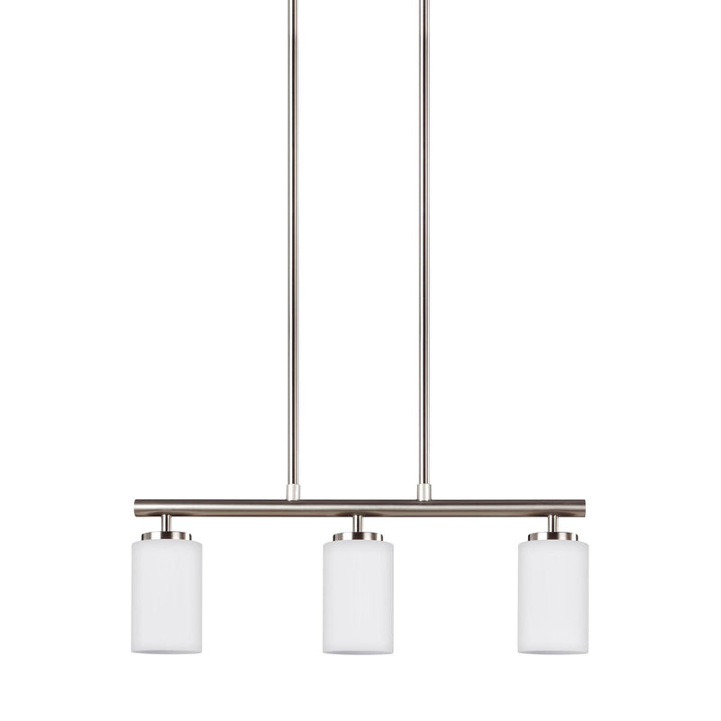 Generation Lighting 66160-962 Sea Gull Oslo 3 Light Pendant in Brushed Nickel