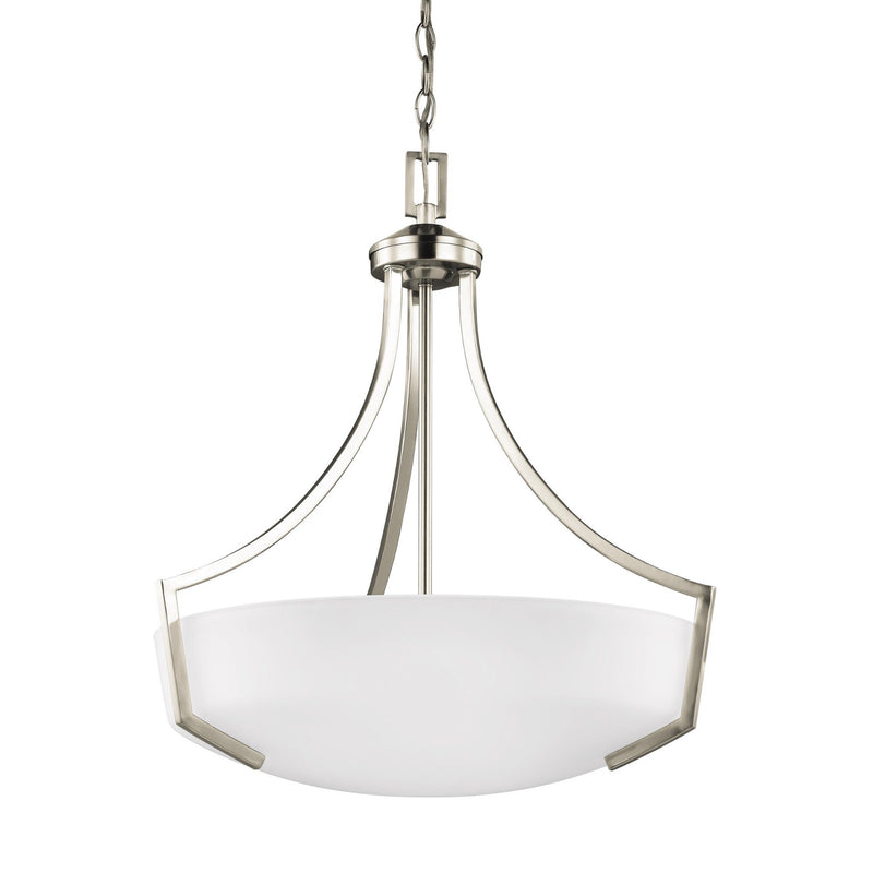 Generation Lighting 6624503EN3-962 Sea Gull Hanford 3 Light Pendant in Brushed Nickel