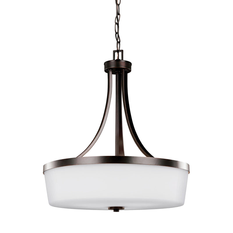 Generation Lighting 6639103EN3-710 Sea Gull Hettinger 3 Light Pendant in Burnt Sienna