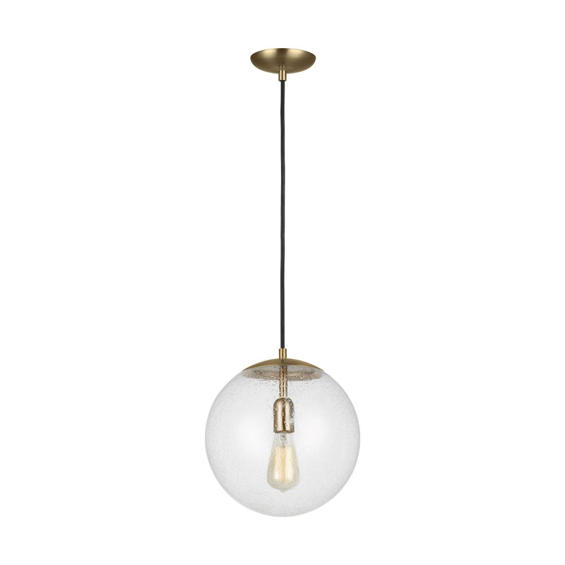 Generation Lighting 6701801-848 Sea Gull Leo - Hanging Globe 1 Light Pendant in Satin Bronze