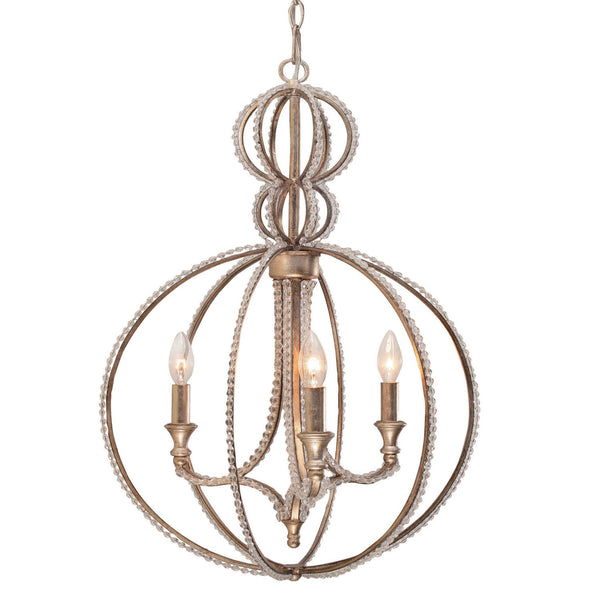 Crystorama 6765-DT Garland Mini Chandelier in Distressed Twilight