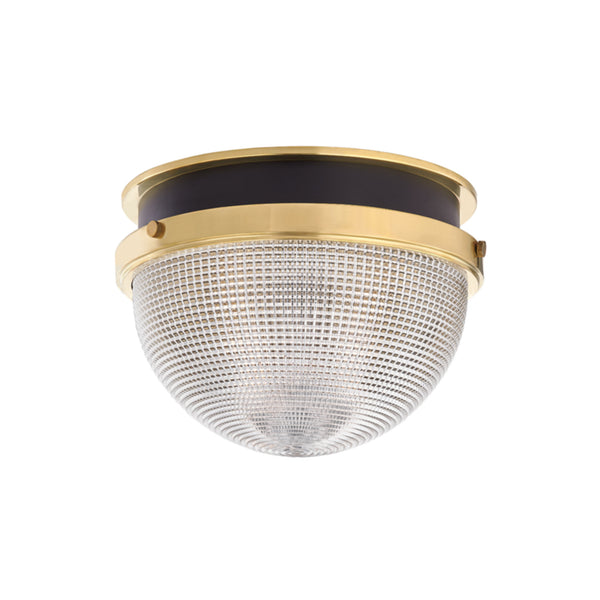 Hudson Valley Lighting 6914-AGB/BK Lucien 1 Light Large Flush Mount in Aged Brass/Black