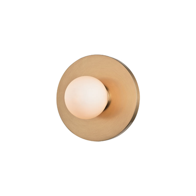 Hudson Valley Lighting 7000-AGB Taft 1 Light Wall Sconce in Aged Brass