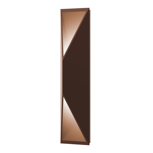 Sonneman 7102.72-WL Prisma Tall LED Sconce in Textured Bronze