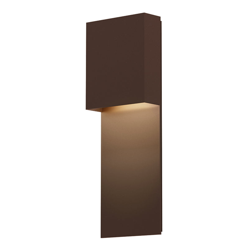 Sonneman 7106.72-WL Flat Box LED Panel Sconce in Textured Bronze