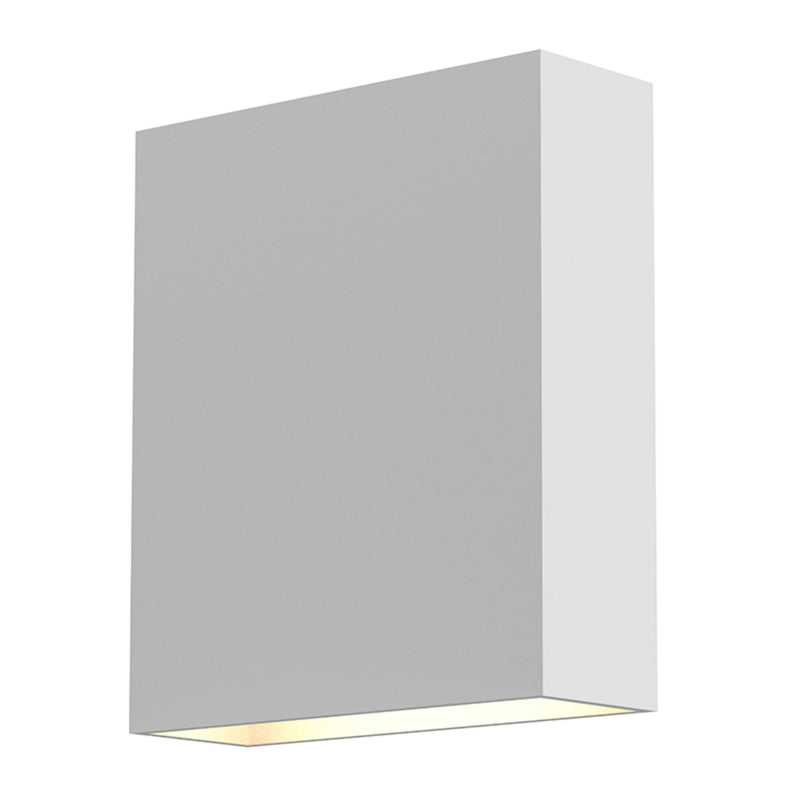 Sonneman 7107.98-WL Flat Box Up/Down LED Sconce in Textured White