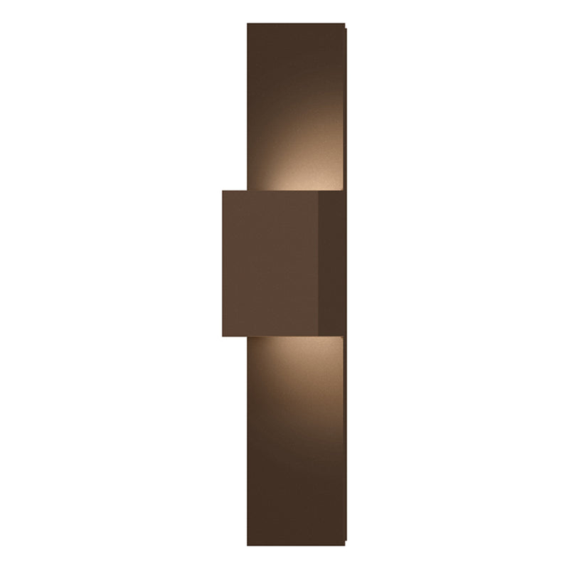 Sonneman 7108.72-WL Flat Box Up/Down LED Panel Sconce in Textured Bronze