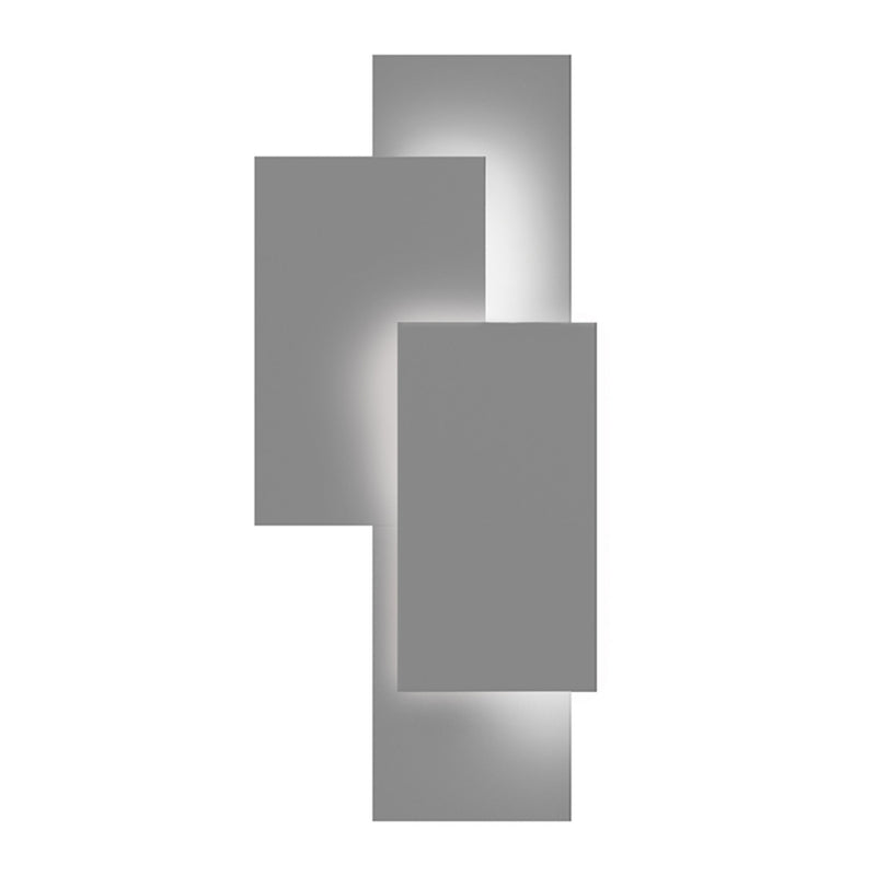 Sonneman 7110.74-WL Offset Panels LED Sconce in Textured Gray