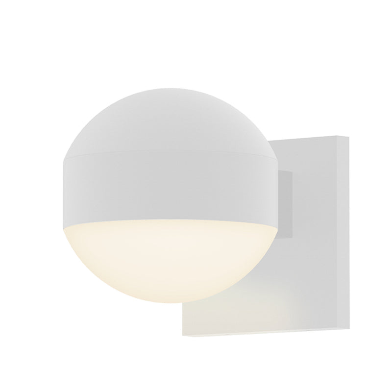Sonneman 7300.DC.DL.98-WL REALS Downlight LED Sconce in Textured White