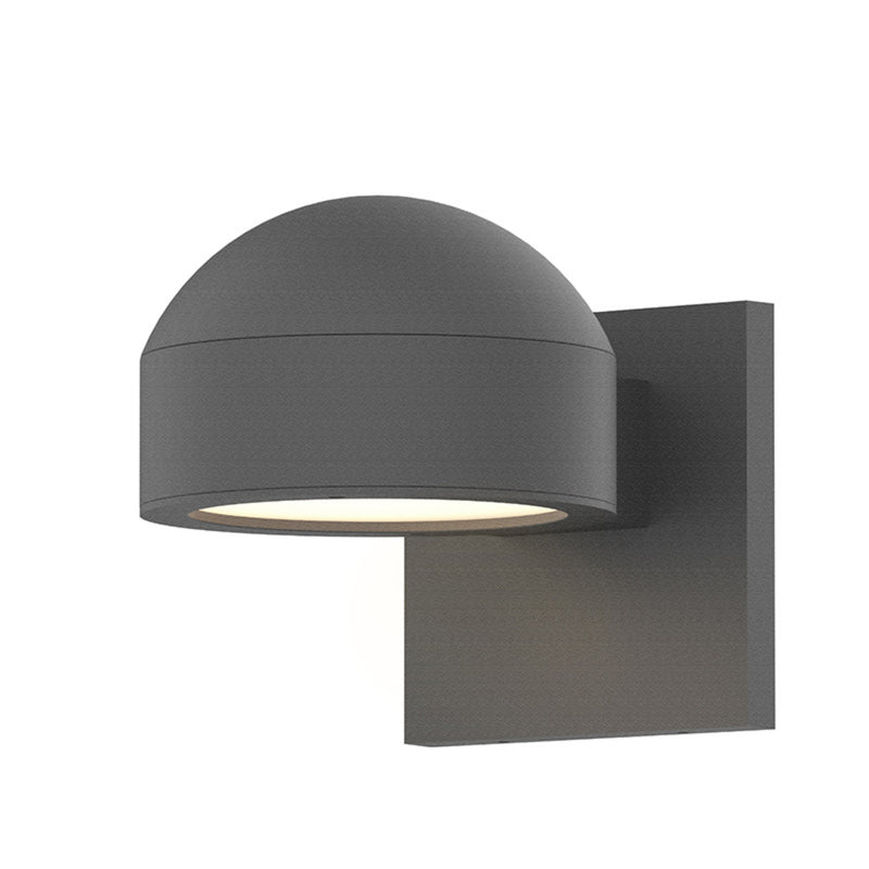 Sonneman 7300.DC.PL.74-WL REALS Downlight LED Sconce in Textured Gray