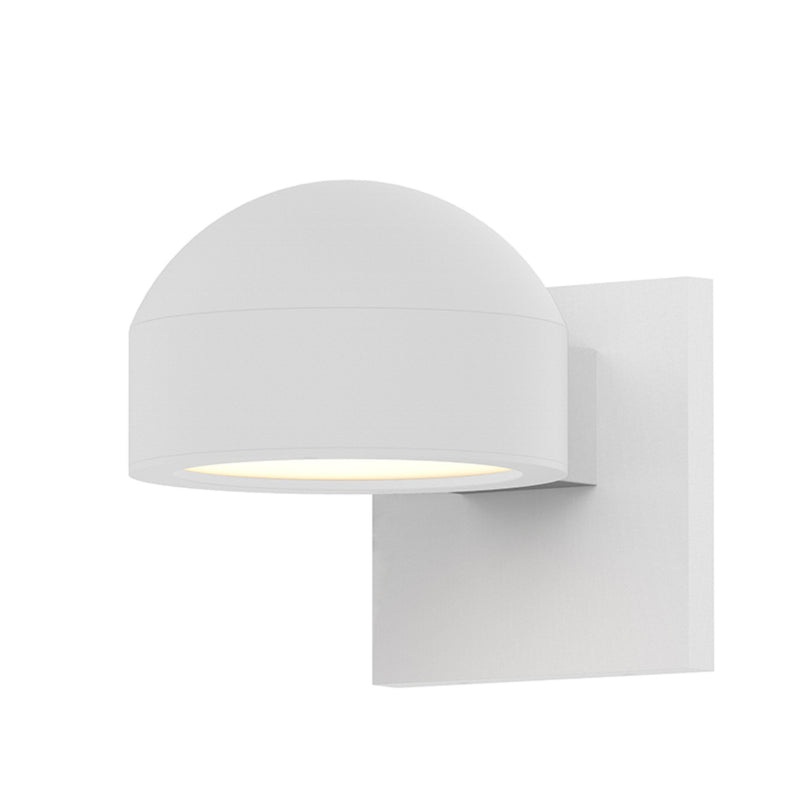 Sonneman 7300.DC.PL.98-WL REALS Downlight LED Sconce in Textured White