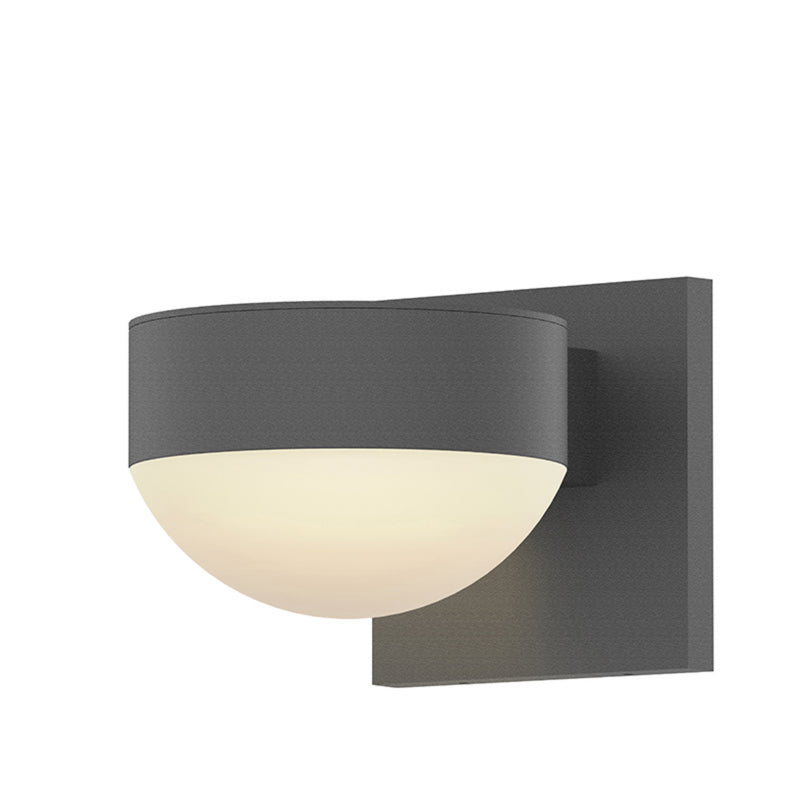 Sonneman 7300.PC.DL.74-WL REALS Downlight LED Sconce in Textured Gray
