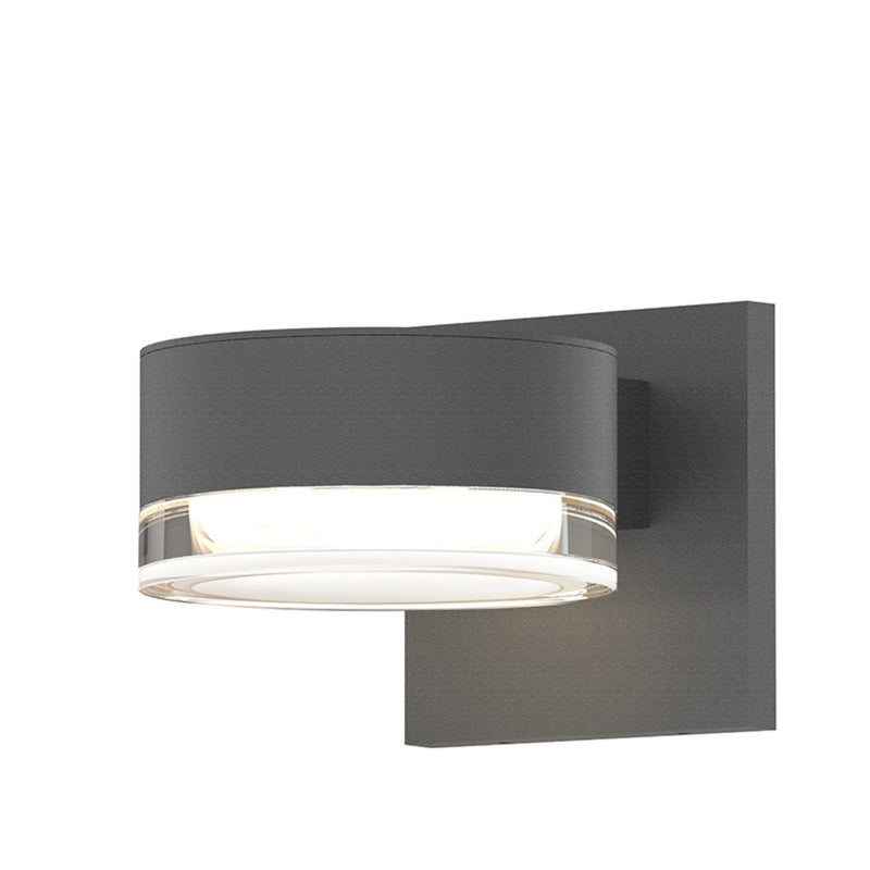 Sonneman 7300.PC.FH.74-WL REALS Downlight LED Sconce in Textured Gray