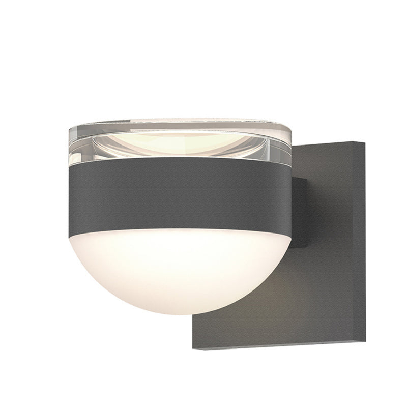 Sonneman 7302.FH.DL.74-WL REALS Up/Down LED Sconce in Textured Gray