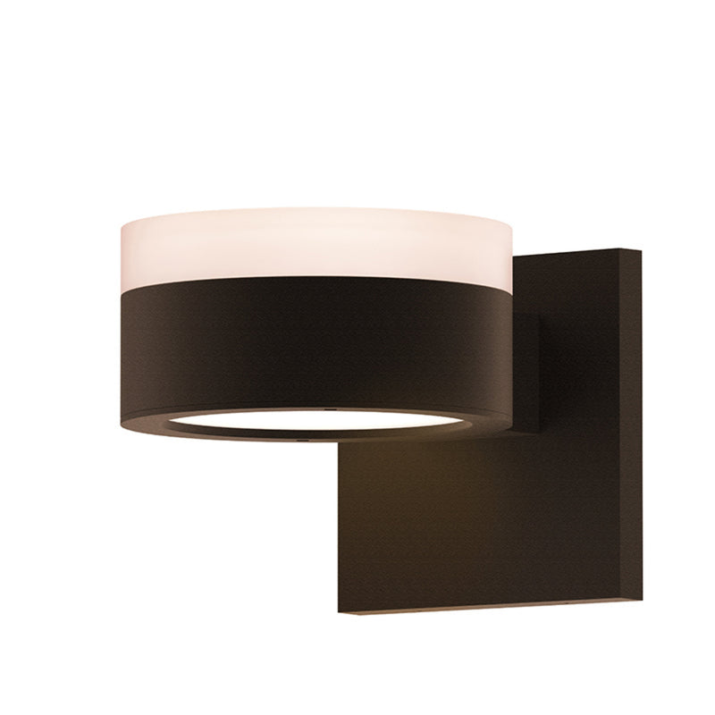 Sonneman 7302.FW.PL.72-WL REALS Up/Down LED Sconce in Textured Bronze