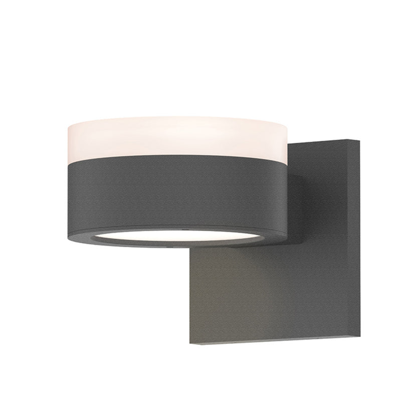 Sonneman 7302.FW.PL.74-WL REALS Up/Down LED Sconce in Textured Gray