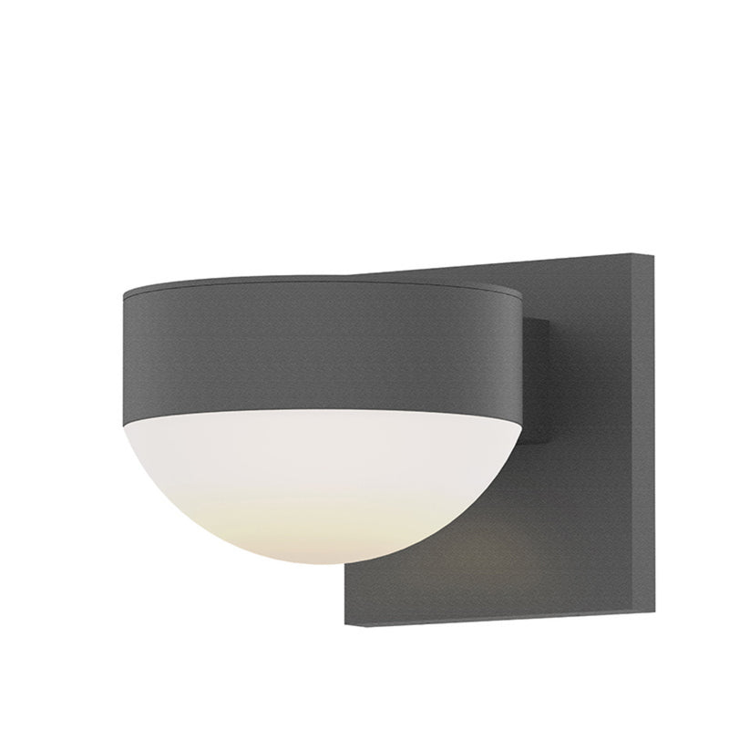 Sonneman 7302.PL.DL.74-WL REALS Up/Down LED Sconce in Textured Gray