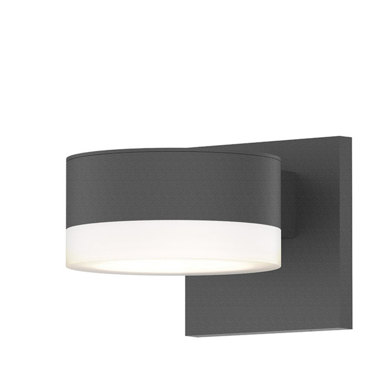 Sonneman 7302.PL.FW.74-WL REALS Up/Down LED Sconce in Textured Gray