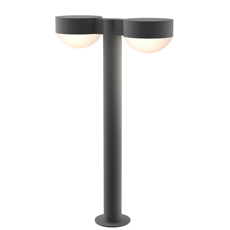 "Sonneman 7307.PC.DL.74-WL REALS 22"" LED Double Bollard in Textured Gray"