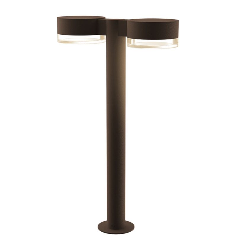 "Sonneman 7307.PC.FH.72-WL REALS 22"" LED Double Bollard in Textured Bronze"