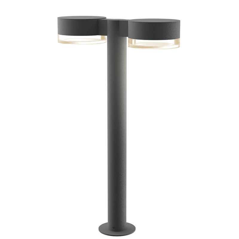 "Sonneman 7307.PC.FH.74-WL REALS 22"" LED Double Bollard in Textured Gray"