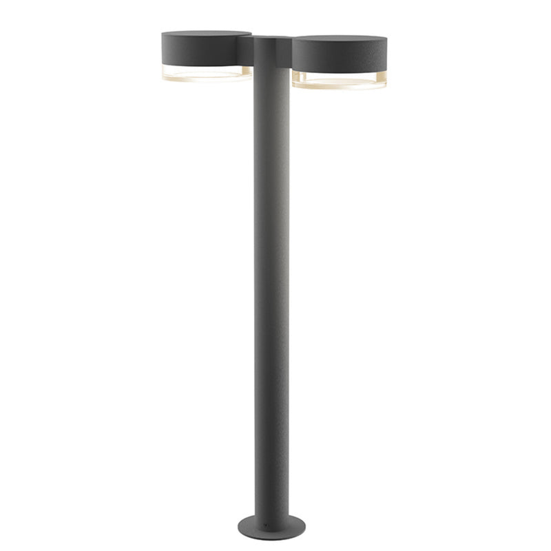 "Sonneman 7308.PC.FH.74-WL REALS 28"" LED Double Bollard in Textured Gray"