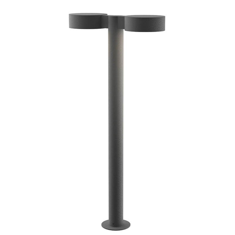 "Sonneman 7308.PC.PL.74-WL REALS 28"" LED Double Bollard in Textured Gray"