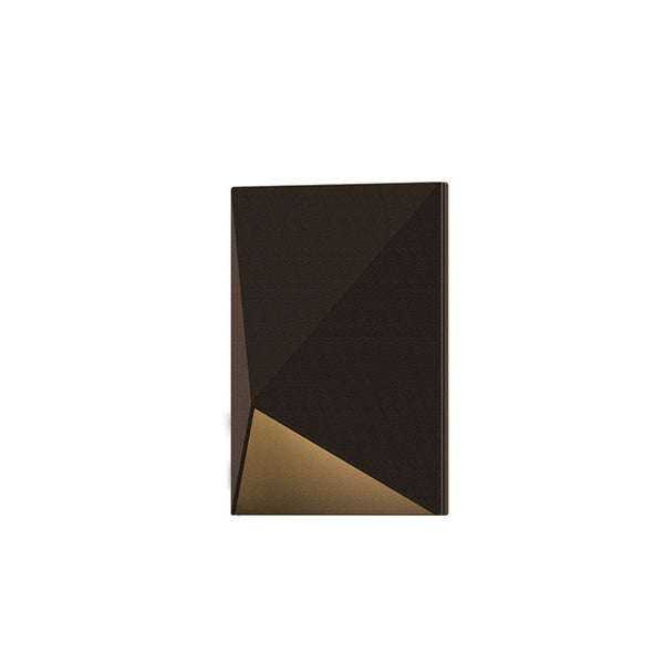 Sonneman 7320.72-WL Triform Compact LED Sconce in Textured Bronze