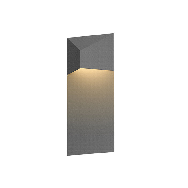 Sonneman 7330.74-WL Triform Panel LED Sconce in Textured Gray