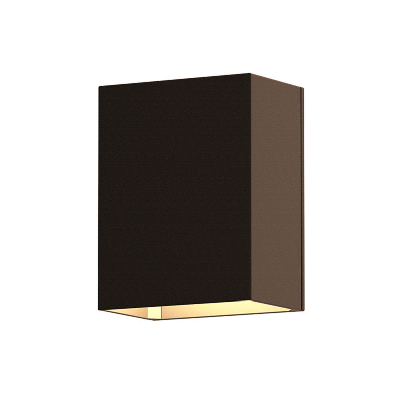 Sonneman 7340.72-WL Box LED Sconce in Textured Bronze
