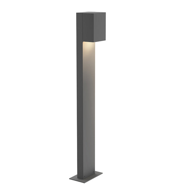 "Sonneman 7343.74-WL Box 28"" LED Bollard in Textured Gray"