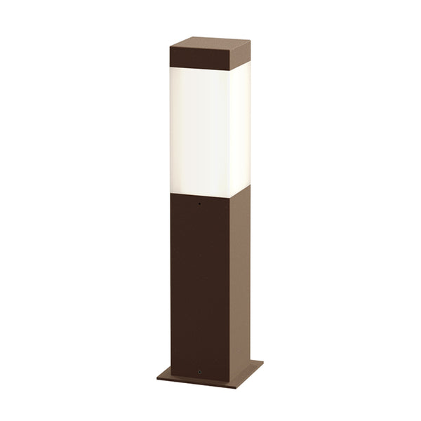 "Sonneman 7381.72-WL Square Column 16"" LED Bollard in Textured Bronze"