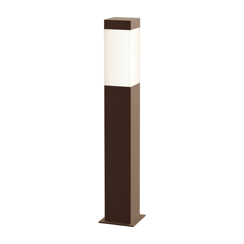 "Sonneman 7382.72-WL Square Column 22"" LED Bollard in Textured Bronze"